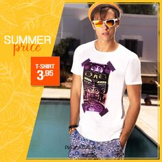 In estate è un #evergreen. Cos'è?  ▸ T-shirt 3.95  Scopri il catalogo #SummerCollection ▸http://bit.ly/1QUWlKt  #PiazzaItalia #SummerPrice