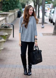 Black Leggings Black Boots
