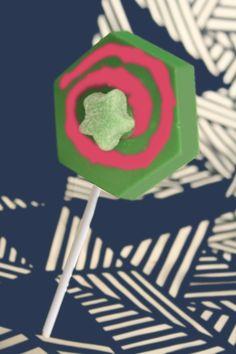 Paleta de Chocolate Hexagono - Hexagon Choclate Pop