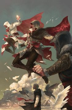 Assassin's Creed: Reflections Vol. Mini-series written by Ian Edginton and illustrated by Valeria Favoccia. Featuring fan-favorite Assassin's Creed game characters Altair, Ezio Auditore, Edward Kenway, Connor, and more! The Assassin, Arte Assassins Creed, Assassin's Creed Brotherhood, Geeks, Game Character, Character Design, Assasins Cred, Assassin's Creed Wallpaper, Connor Kenway