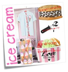 """""""Ice Cream"""" by milkshakes-and-dogs ❤ liked on Polyvore featuring art and icecreamtreats"""