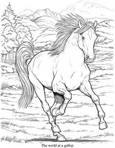 horse coloring page inkspired musings: Crayons to the Rescue!