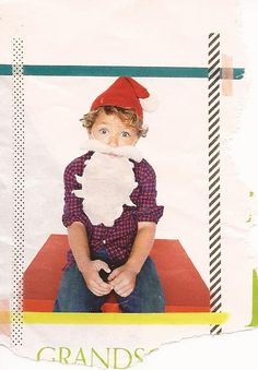 While looking through the current J Crew catalog, I noticed this adorable little boy with the cutest Santa beard {which they are not selling...