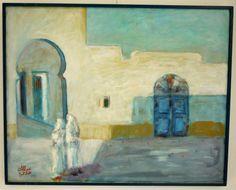 Abdelmalek Allani -  Expression - Peinture à l'huile 1991