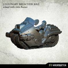 This set contains one high quality resin Legionary Breacher Bike armed with twin flamer. Designed to fit futuristic 28mm heroic scale heavy armoured troopers. As an additional parts you get biker legs and arms which you can combine with Legionaries torsos, heads, shoulder pads and backpacks sold separately.