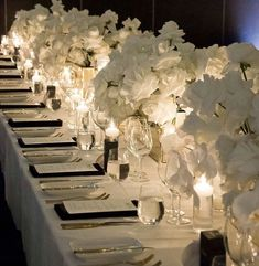 Glamour wedding inspiration by wedoido // tags: wedding table, wedding flowers, wedding setting, wedding photography // White Orchid Centerpiece, Orchid Centerpieces, Wedding Centerpieces, Our Wedding, Wedding Venues, Dream Wedding, Floral Wedding, Wedding Flowers, Deco Table Noel