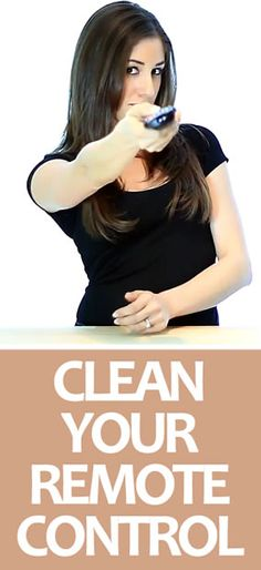 Quick, easy way to #clean and #disinfect a #RemoteControl (think of all the grime and bacteria that build up on one of those)!