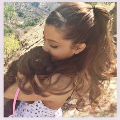 Ariana Grande's dog Ophelia is a baby chocolate labradoodle