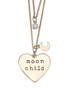 LOVEsick Moon Child Tattoo Choker and Double Chain Necklace Set,