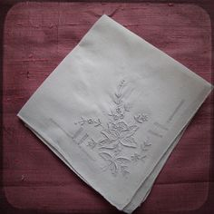 Antique Wedding french Square Hand embroidered Handkerchief White Gorgeous - Vintage Whitework Souvenir from France