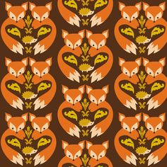 Fox Print Brown fabric by boredinc on Spoonflower - custom fabric