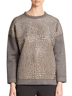 Moncler - Metallic-Panel Sweater