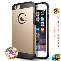 Spigen CHAMPAGNE GOLD iPhone Case Cover - CHAMPAGNE GOLD Apple iPhone 6 6s - Free Screenguard & Cleaning Kit (Just Pay Shipping)