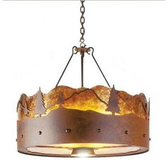 Steel Partners 3 Light Drum Chandelier Finish: Architectural Bronze, Shade / Lens: Bungalow Green