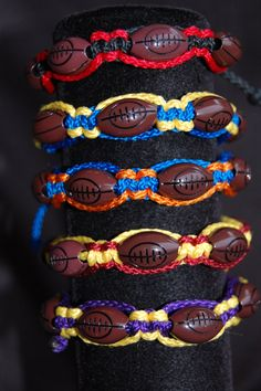 Football Bracelet /  College Football / Football by DiamondDivas33, $7.95