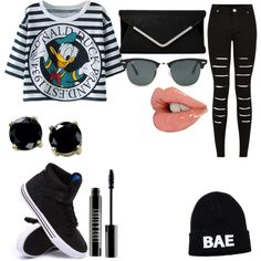 Undercover bae#1908 by foreverclassy508 on Polyvore featuring polyvore fashion style Supra B. Brilliant Ray-Ban Lord & Berry