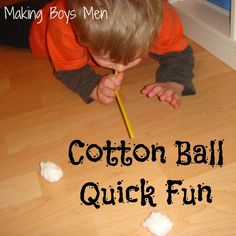 Cotton ball fun for kids