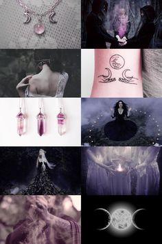triple goddess aesthetic: maiden, goddess, and crone