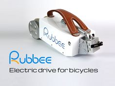 Rubbee is a revolutionary electric drive which can be mounted on any bicycle in just a few seconds. More info www.rubbee.co.uk