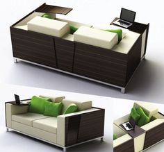 trio sofa: work, relax, and more- without leaving your seat   ;)