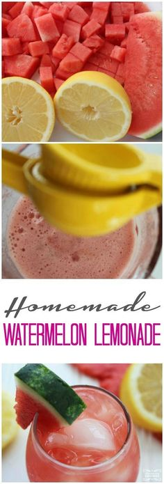 Watermelon Lemonade Homemade Recipe! This is a must try summer lemonade recipe!