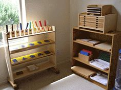 Organize the room into centers such as this Montessori-style schoolroom.