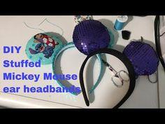Sew with me - How I make stuffed Disney ears. Lilo & Stitch and Ursula ear headbands - YouTube