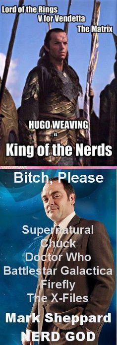 Mark Sheppard wins. And they forgot Warehouse 13! Also Star trek Voyager, Sliders and X-Files.