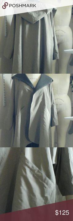 Selling this Stylin_sanity  Hooded Raincoat on Poshmark! My username is: 4cinda49. #shopmycloset #poshmark #fashion #shopping #style #forsale #Jackets & Blazers