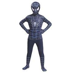 YongEnShang The Spider-Verse Kids Bodysuit Black Spiderman Superhero Costumes Lycra Spandex Halloween Cosplay Costumes (Black - Kids costumes Halloween Cosplay, Cosplay Costumes, Halloween Costumes, Halloween Kids, Superhero Costumes Kids, Black Spiderman, Super Hero Costumes, Spider Verse, Lycra Spandex