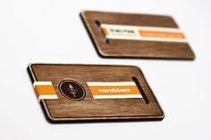 carabiner3 wood business cards