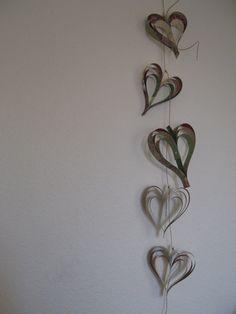 Paper heart garland.