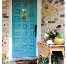 robins egg blue front door!