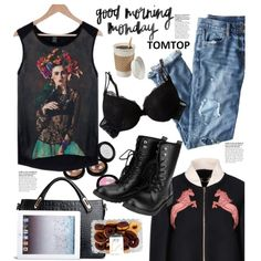 Tomtop.com: Good Morning Monday! by hamaly on Polyvore featuring moda, STELLA McCARTNEY, J.Crew, dresses, bags, SpringStyle and tomtop