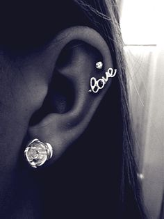 Check out LoveItSoMuch.com to discover unique products like Striking Silver Cartilage Love Earrings Stud for Fashion Girl.
