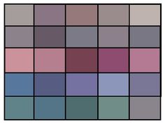 Palette of colors you'll probably see in a Type 2′s wardrobe… :-)