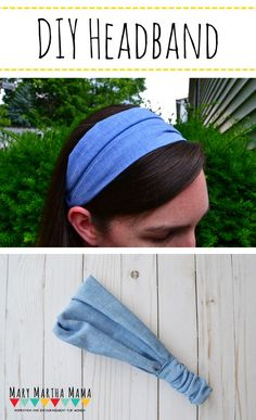 This tutorial will show you How to Make a Headband [The Quick & Easy Way] – Mary Martha Mama #sewing #sewingprojects #sewingproject