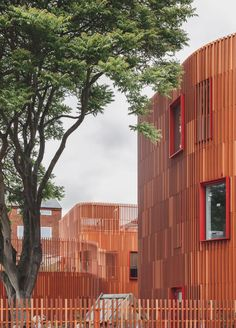COBE have designed plant pots based on this school building that they also designed.