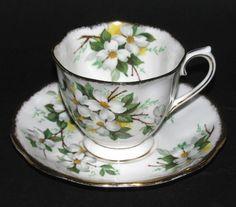 Royal Albert White Dogwood Teacup and Saucer