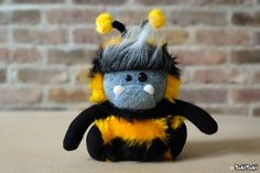 Beesquatch Plush by loveSukiSuki on Etsy https://www.etsy.com/listing/264995928/beesquatch-plush