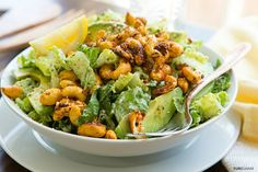 Chipotle Cashew Chopped Salad with Cilantro Buttermilk Dressing