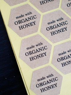 Made with organic honey hexagon brown kraft by ctdscraftsupply