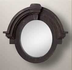 Espejo ovalado volumétrico de madera chino - Muebles chinos | muebles orientales | muebles asiaticos | decoración oriental China