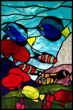fish tank stained glass