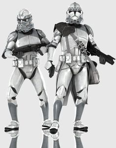 Clonetroopers (Phase II Legion and Shocktroo by Yare-Yare-Dong on DeviantArt Star Wars Clones, Star Wars Clone Wars, Star Wars Fan Art, Star Citizen, Guerra Dos Clones, Images Star Wars, Republic Commando, Star Wars Novels, 501st Legion
