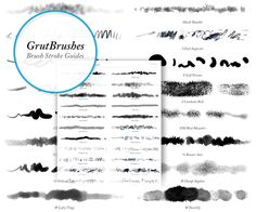 Photoshop brushes for Digital Artists. Watercolor, Oil, Charcoal,Ink and Impasto Photoshop brushes for professional digital painting and illustration. Photoshop Tips, Photoshop Brushes, Cheat Sheets, Brush Strokes, Paint Brushes, Paper Texture, How To Draw Hands, Digital Paintings, Digital Art