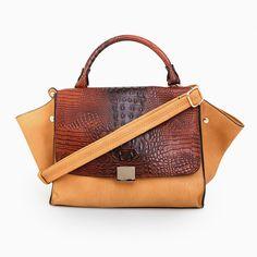 Reptile Flap Handbag WANT WANT WANT $50