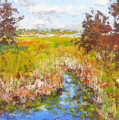 "Daily+Paintworks+-+""Toward+The+Lake""+-+Original+Fine+Art+for+Sale+-+©+Leanne+Owen"