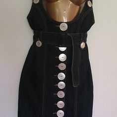 Jeans-skirt-dress with straps   Etsy