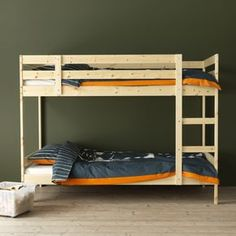 A bunk bed, like MYDAL, is always a good choice in kids' bedrooms where space is limited.